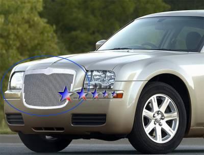 Grilles - Custom Fit Grilles - APS - Chrysler 300 APS CNC Grille - Upper - Aluminum - R95300V