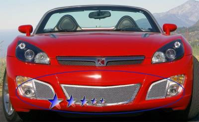 Grilles - Custom Fit Grilles - APS - Saturn Sky APS Wire Mesh Grille - Bumper - Stainless Steel - S77620T