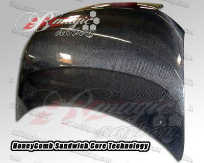 XB - Hoods - AIT Racing - Scion xB AIT Racing OEM Style Carbon Fiber Hood - SB08BMCFH