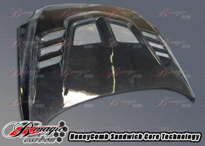TC - Hoods - AIT Racing - Scion tC AIT Racing R1 Style Carbon Fiber Hood - SC04BMR1SCFH