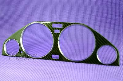 Car Interior - Interior Trim Kits - Custom - Carbon Fiber Bezel with Chrome Rings