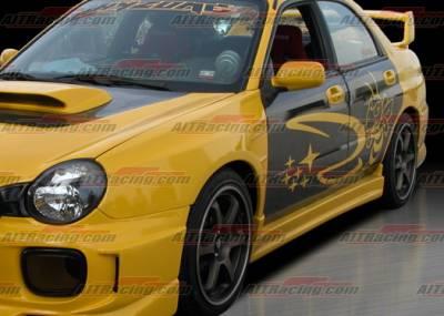Impreza - Side Skirts - AIT Racing - Subaru Impreza AIT Racing Charger Style Side Skirts - SI02HICHGSS