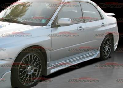 Impreza - Side Skirts - AIT Racing - Subaru Impreza AIT Racing CW Style Side Skirts - SI02HICWSSS
