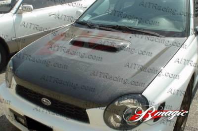 Impreza - Hoods - AIT Racing - Subaru Impreza AIT Racing OEM Style Carbon Fiber Hood - SI04BMCFH