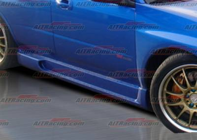 WRX - Side Skirts - AIT Racing - Subaru WRX AIT Racing I-spec Style Side Skirts - SI04HIINGSS