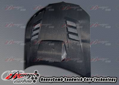 Impreza - Hoods - AIT Racing - Subaru Impreza AIT Racing R1 Style Carbon Fiber Hood - SI06BMR1SCFH