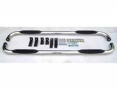 Suv Truck Accessories - Running Boards - 4 Car Option - Chevrolet Avalanche 4 Car Option Stainless Steel Side Bar - SSB-CV-0260