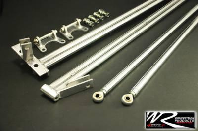Suspension - Strut Bars - Weapon R - Honda Civic HB Weapon R Rear X-Cross Stress Brace - 955-101-102