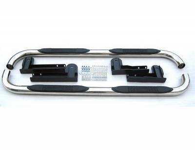 Suv Truck Accessories - Running Boards - 4 Car Option - Ford F150 4 Car Option Stainless Steel Side Bar - SSB-FD-0363