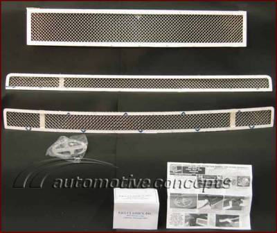 Grilles - Custom Fit Grilles - Custom - Mesh Grille 3 Piece Set
