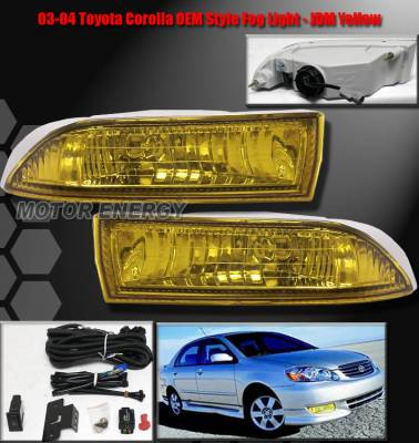 Headlights & Tail Lights - Fog Lights - Custom - Yellow  Fog Lights Complete Set