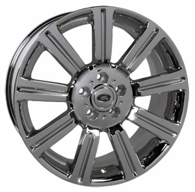 Wheels - Landrover Wheel Set - Custom - 20 Inch Chrome 4 Wheel Set