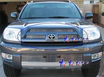 Grilles - Custom Fit Grilles - APS - Toyota 4Runner APS Billet Grille - Upper - Aluminum - T65424A