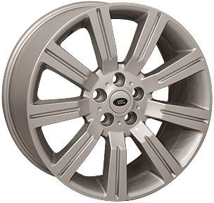 Wheels - Landrover Wheel Set - Custom - 22 Inch Silver 4 Wheel Set