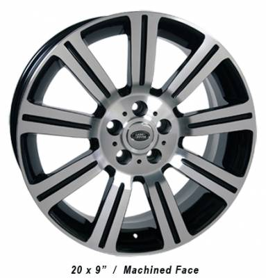 Wheels - Landrover Wheel Set - Custom - 20 Inch Machined Black 4 Wheel Set