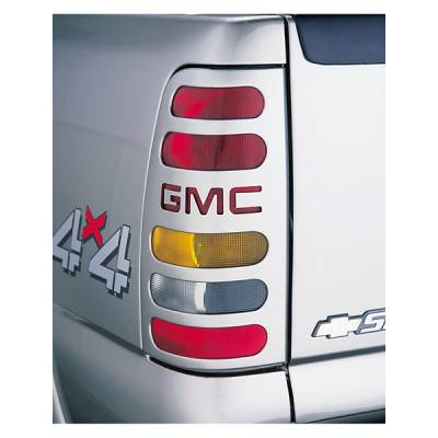 Headlights & Tail Lights - Tail Light Covers - V-Tech - GMC Sierra V-Tech Taillight Covers - GMC Logo - 2466