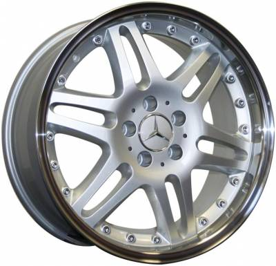 Wheels - Mercedes 4 Wheel Packages - Custom - 18 Inch X2 Silver - 4 Wheel Set