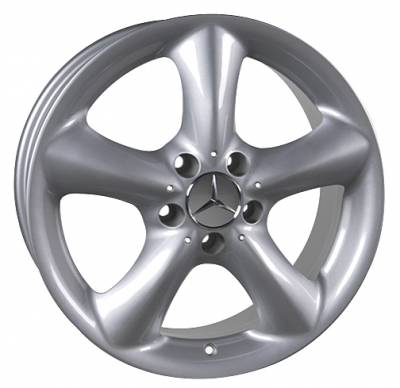 Wheels - Mercedes 4 Wheel Packages - Custom - 17 inch Five Spoke Silver - 4 wheel set