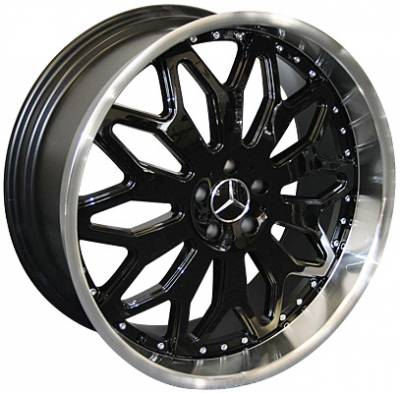 Wheels - Mercedes 4 Wheel Packages - Custom - 22 Inch Metallic Black 4 Wheel Set