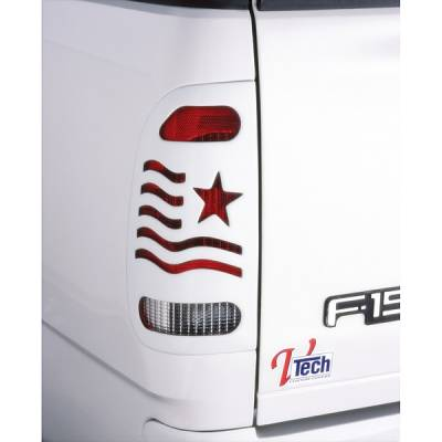 Headlights & Tail Lights - Tail Light Covers - V-Tech - Ford Superduty V-Tech Taillight Covers - Patriot Style - 2831