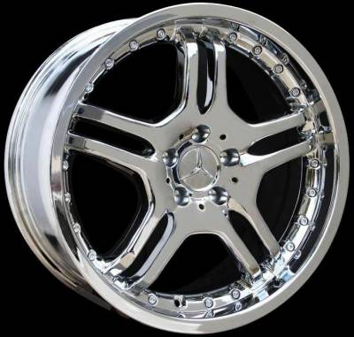 Wheels - Mercedes 4 Wheel Packages - Custom - 18 Inch X3 Chrome - 4 Wheel Set