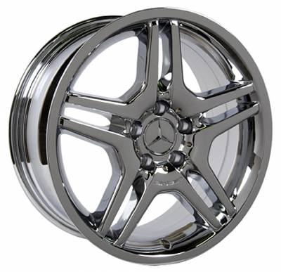 Wheels - Mercedes 4 Wheel Packages - Custom - 17 inch or 18 inch Chrome 10 Spoke - 4 wheel set