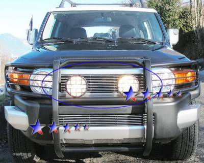 Grilles - Custom Fit Grilles - APS - Toyota FJ Cruiser APS Billet Grille - Upper - Stainless Steel - T65455S