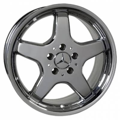 Wheels - Mercedes 4 Wheel Packages - Custom - 17 inch Chrome Five Spoke 4 wheel set