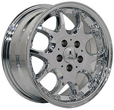 Wheels - Mercedes 4 Wheel Packages - Custom - 16 Inch Chrome - 4 Wheel Set