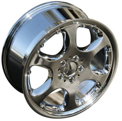 Wheels - Mercedes 4 Wheel Packages - Custom - 18 inch Chrome Aero - 4 wheel set