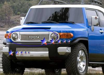Grilles - Custom Fit Grilles - APS - Toyota FJ Cruiser APS Billet Grille - with Logo Opening - Upper - Aluminum - T65457A