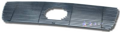 Grilles - Custom Fit Grilles - APS - Toyota Tundra APS Billet Grille - with Logo Opening - Upper - Stainless Steel - T65458S