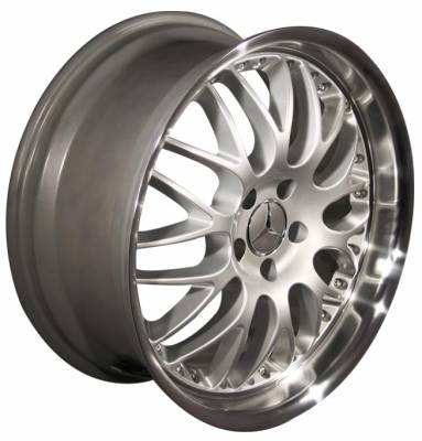 Wheels - Mercedes 4 Wheel Packages - Custom - 19 inch Deep Dish Split Spoke Silver - 4 wheel set