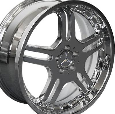 Wheels - Mercedes 4 Wheel Packages - Custom - 20 Inch X3 Chrome - 4 Wheel Set