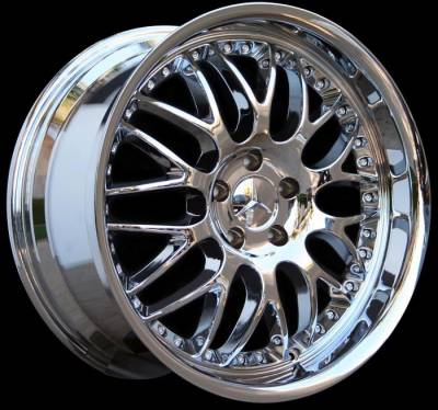 Wheels - Mercedes 4 Wheel Packages - Custom - 19 inch Deep Dish Split Spoke Chrome - 4 wheel set