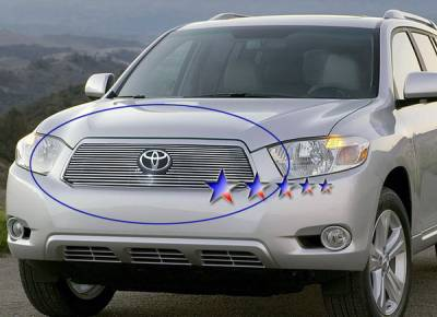 Grilles - Custom Fit Grilles - APS - Toyota Highlander APS Billet Grille - Upper - Aluminum - T66547A