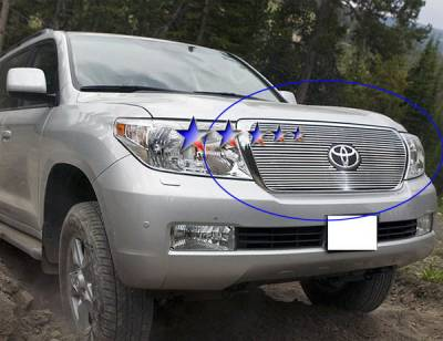 Grilles - Custom Fit Grilles - APS - Toyota Land Cruiser APS Billet Grille - Upper - Aluminum - T66548A
