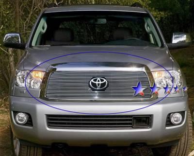 Grilles - Custom Fit Grilles - APS - Toyota Sequoia APS Billet Grille - Upper - Aluminum - T66553A