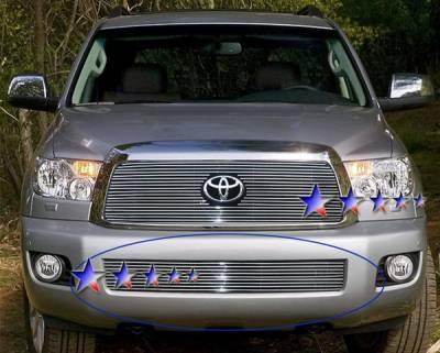 Grilles - Custom Fit Grilles - APS - Toyota Sequoia APS Billet Grille - Bumper - Aluminum - T66554A