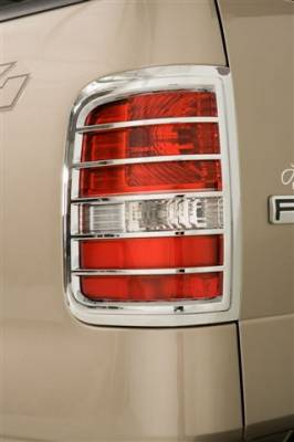 Headlights & Tail Lights - Tail Light Covers - Wade - Wade Chrome Tail Light Cover - Large 2PC - 15081