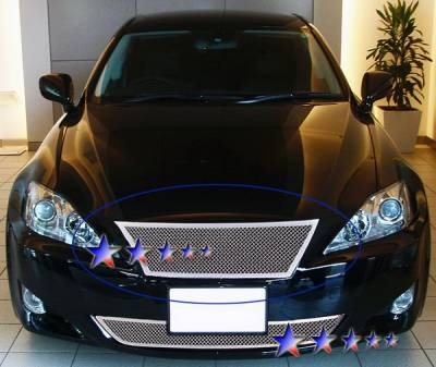 Grilles - Custom Fit Grilles - APS - Lexus IS APS Wire Mesh Grille - Upper - Stainless Steel - T75451T