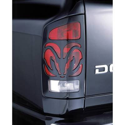 Headlights & Tail Lights - Tail Light Covers - V-Tech - Dodge Ram V-Tech Taillight Covers - Big Horns Style - 27704