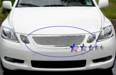 Grilles - Custom Fit Grilles - APS - Lexus GS APS Wire Mesh Grille - Upper - Stainless Steel - T75453T