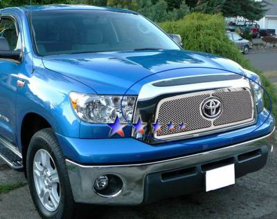 Grilles - Custom Fit Grilles - APS - Toyota Tundra APS Wire Mesh Grille - with Logo Opening - Upper - Stainless Steel - T75458T