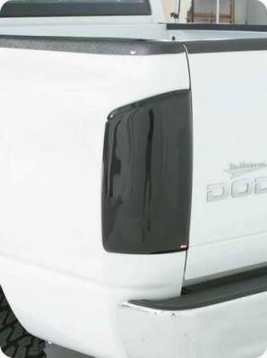 Headlights & Tail Lights - Tail Light Covers - Wade - Wade Smoke Solid Tail Light Guard Covers - 31844
