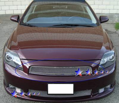 Grilles - Custom Fit Grilles - APS - Scion tC APS Wire Mesh Grille - Upper - Stainless Steel - T76018T