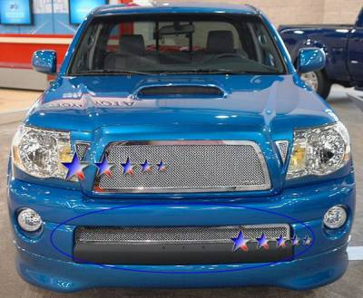 Grilles - Custom Fit Grilles - APS - Toyota Tacoma APS Wire Mesh Grille - Bumper - Stainless Steel - T76457T