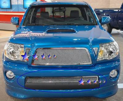Grilles - Custom Fit Grilles - APS - Toyota Highlander APS Wire Mesh Grille - T76547T