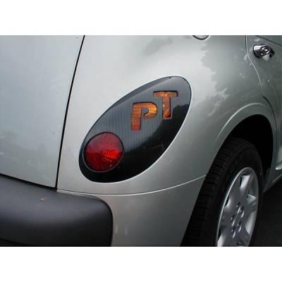 Headlights & Tail Lights - Tail Light Covers - V-Tech - Chrysler PT Cruiser V-Tech Taillight Covers - PT Logo - 32624