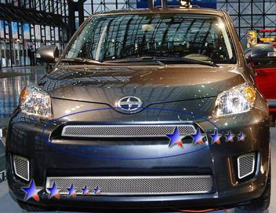 Grilles - Custom Fit Grilles - APS - Scion xD APS Wire Mesh Grille - Upper - Stainless Steel - T76551T